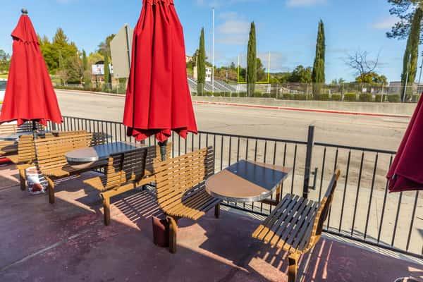 La Reyna Market outdoor seating