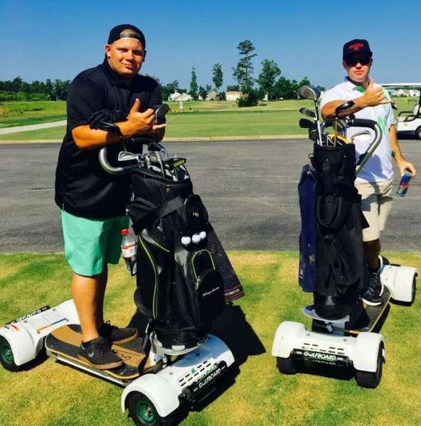 members on golfboards