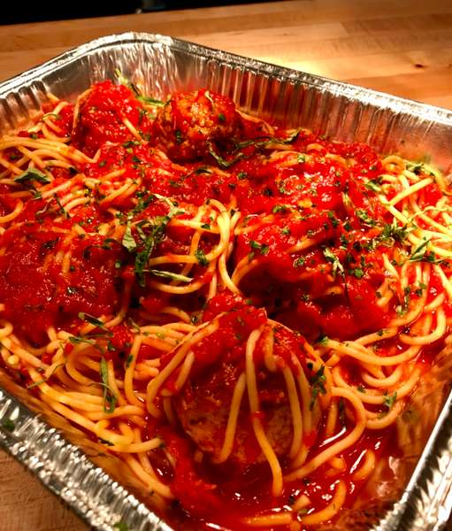Family Meal to go Spagetti and Meatballs