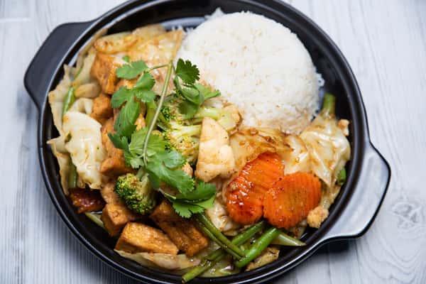 Tofu With Vegetables / Đậu Hủ Xào Rau Cu