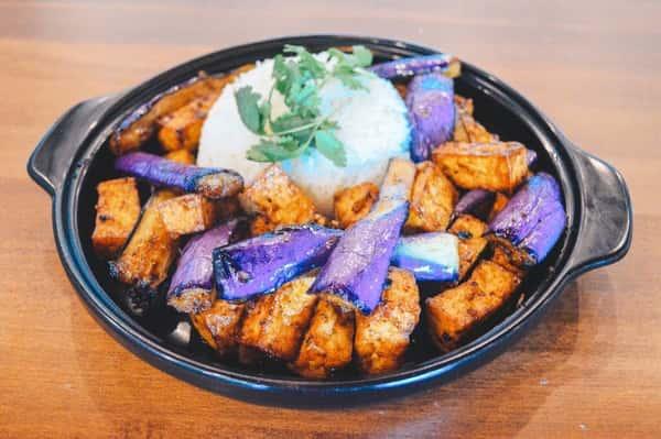 Tofu With Eggplant / Đậu Hủ Xào Cà Tím