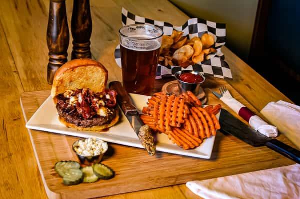 Bourbon Bacon Bleu Cheese Burger