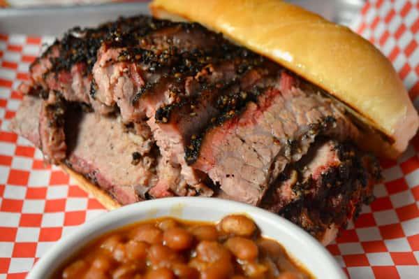 Sliced Beef Brisket Sandwich
