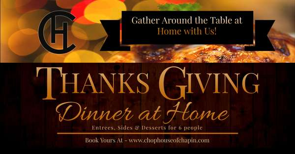 Thanksgiving Dinner at Home with the Chophouse of Chapin