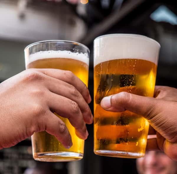 toasting beer