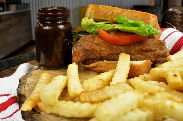 Fried Rib Sandwich