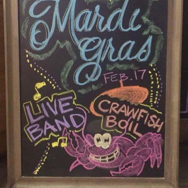 mardi gras chalkboard