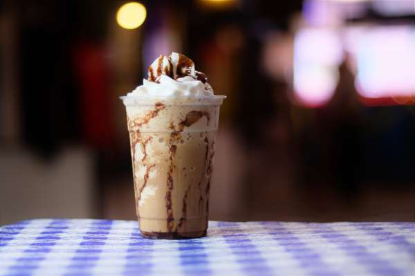 Chocolate or Caramel Ice Cream Frappe