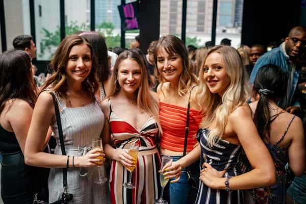 girls at brunch