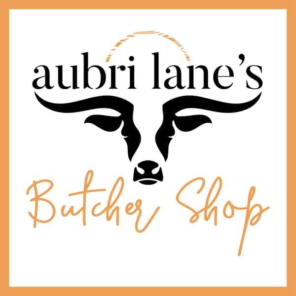 aubri lanes butcher shop logo