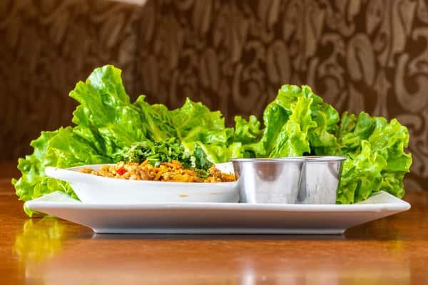 Asian-Style Chicken Lettuce Wraps
