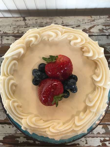 Red, White, and Blue Cake