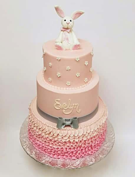 bunny pink cake