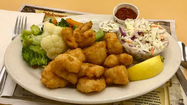 Lunch Fried Seafood Combination