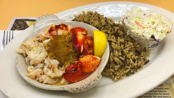 Broiled Lobster & Crab Casserole