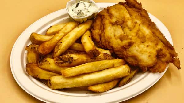 Kids Fresh Cod Fish Platter