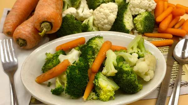Steamed Fresh Vegetables