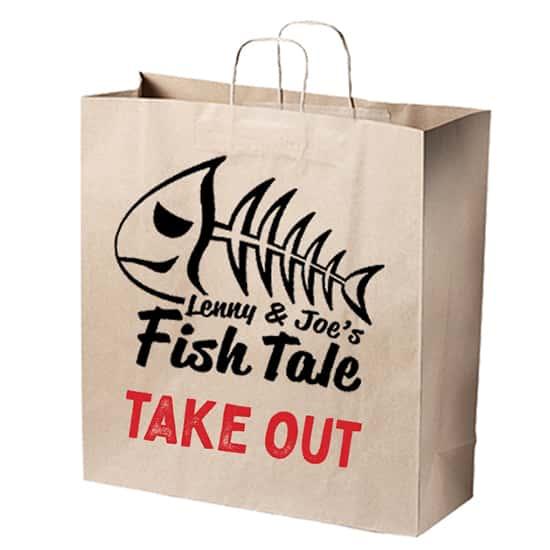Fish tale Take Out Bag