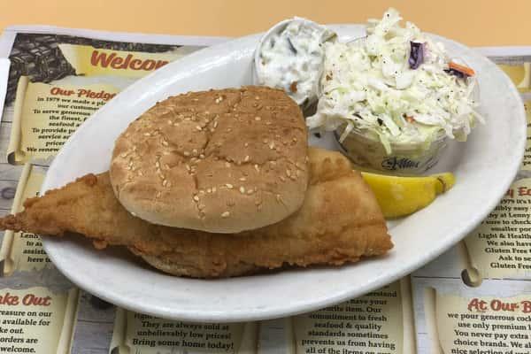 Lunch Fried Fresh Haddock Roll Platter