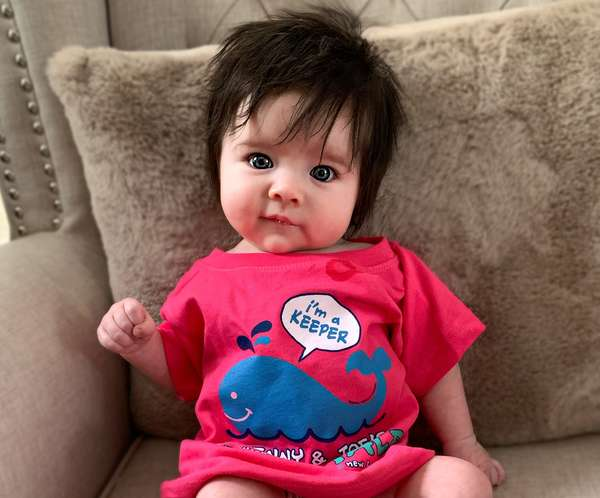 Baby in Fish Tale Shirt!