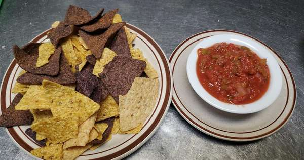 Organic Corn Chips and Salsa