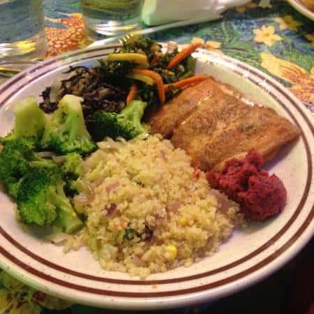 R's Salmon Piccata
