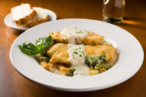 Spinach & Three Cheese Stuffed Chicken