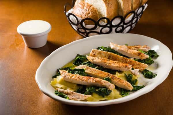 Grilled Chicken Ravioli