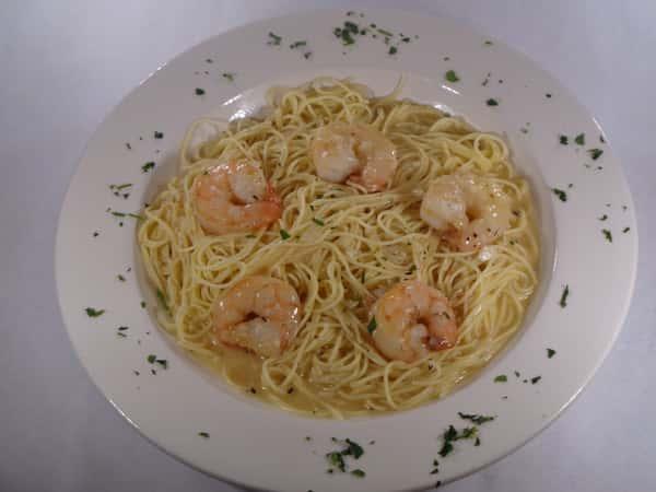 Shrimp or Scallops Scampi