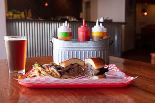 Brisket Sandwich with Fries