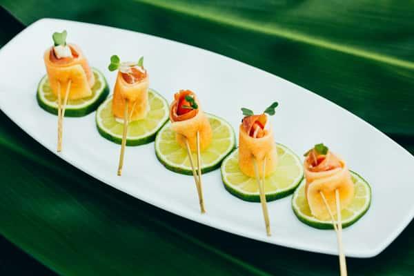 Melon Wrapped Prosciutto