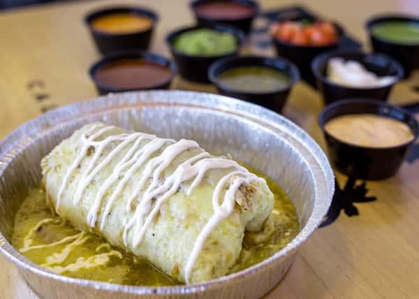 green chili wet burrito