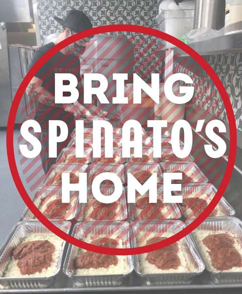 Spinato's Pizzeria and Family Kitchen To-Go Options. Bring Spinato's Home.