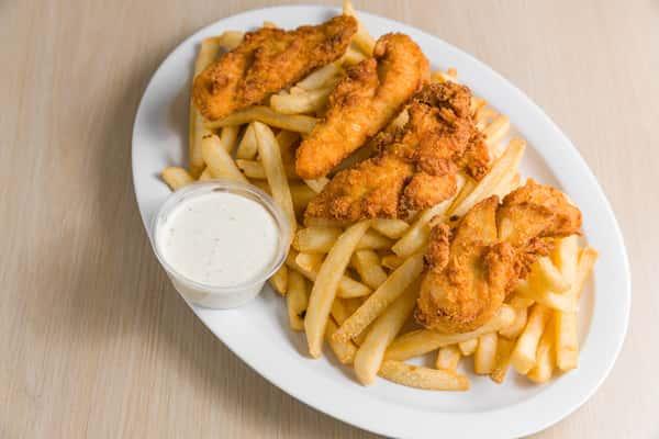 6 PC Chicken Tenders w/fries