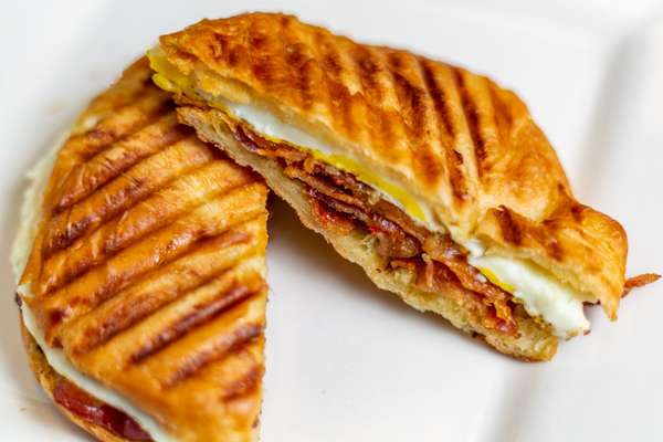 Bacon Egg Cheddar Croissant Panini
