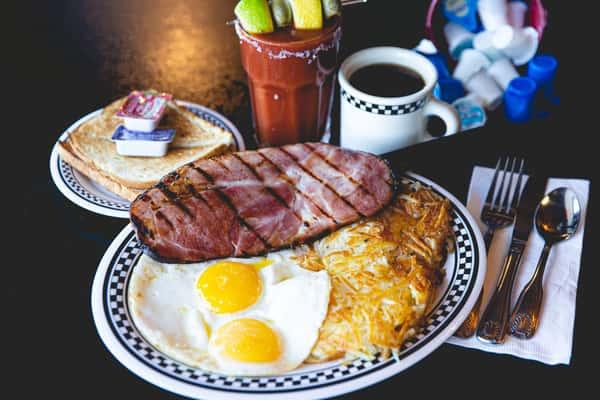 Deli Ham Steak & Eggs