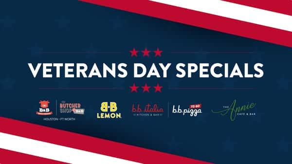 veterans day specials