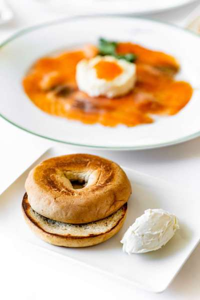 Bagel w/Cream Cheese, Butter or Jam