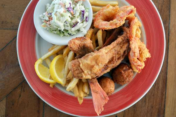 Fried Snapper 'n Shrimp