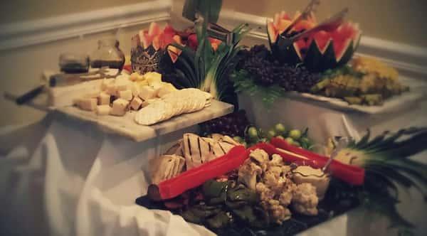 Catering - crudite & cheese board