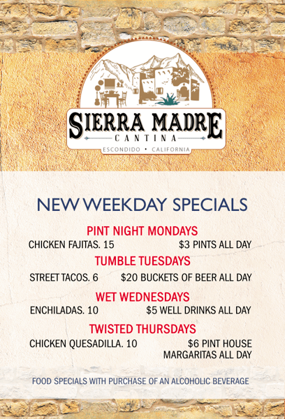 Flyer with Specials