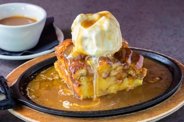 Caramel Apple Almond Bread Pudding