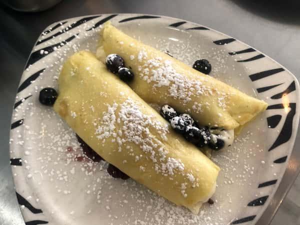 Blueberry & Cream Crepes