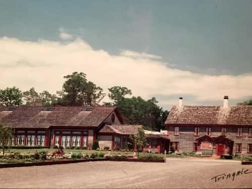 color old photo of barker tavern