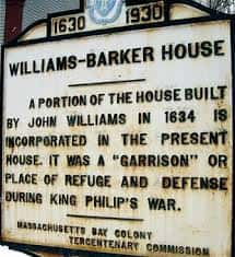 williams barker house sign