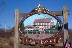 barker tavern sign
