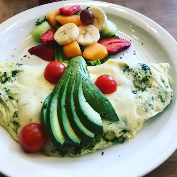 Healthy Green & White Omelette