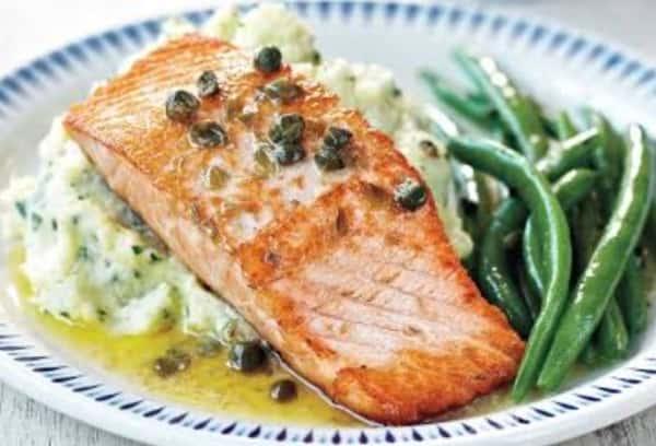 Salmon in Caper Sauce