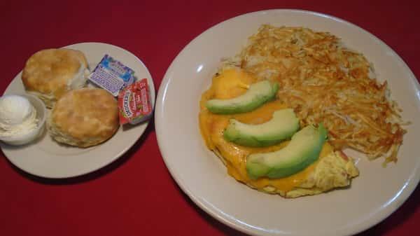 Bacon & Avocado Omelette
