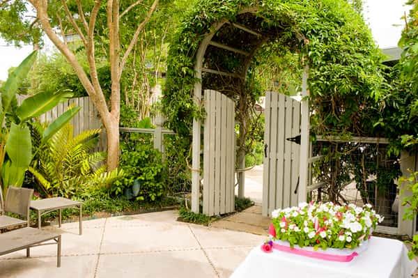 Garden gate at The Bear's Garden